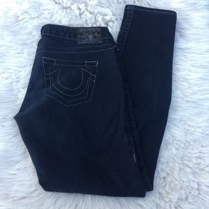 ⚡2/$20 Black true religion skinny jeans